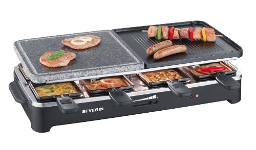 Severin RG 2341 Raclette-Partygrill mit Naturgrillstein*