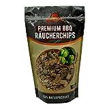 XL Premium BBQ Räucherchips Mix für ein besonderes Raucharoma – sehr rauchaktives Räucherholz/Holzhackschnitzel - 100% natürliches Baumholz für einen einzigartigen Grillgeschmack – 3x 750g (Apfel, Buche, Kirsche)