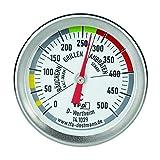 TFA Dostmann BBQ Thermometer, 14.1029, zur Garraumtemperaturmessung, für den Grill/Smoker, aus Edelstahl, 18/8, Silber