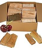 KIRSCHE Smokerholz 15KG von Landree® Cherry BBQ Holz Räucherholz Smoker Wood