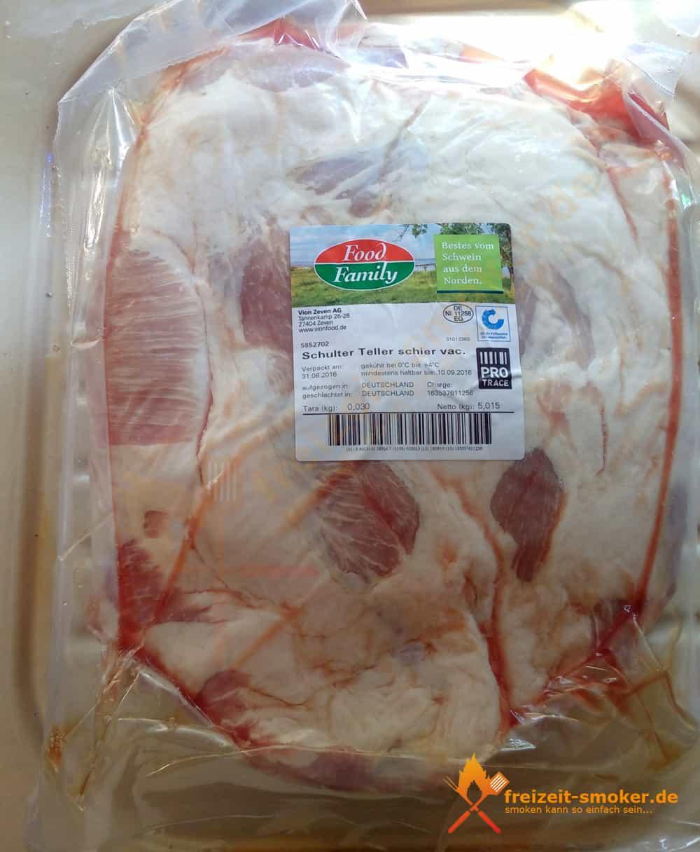 Schweine-Schulter verpackt