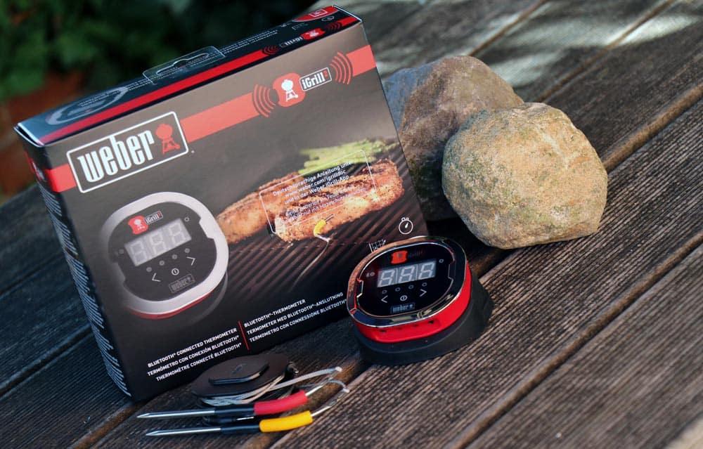 Weber Holzkohlegrill Welche Temperatur : Igrill von weber grill thermometer freizeit smoker